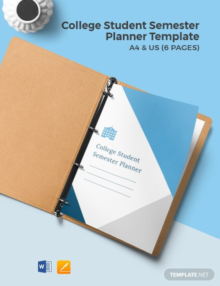 College Student Semester Planner Template