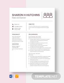 Public Accountant Resume Template