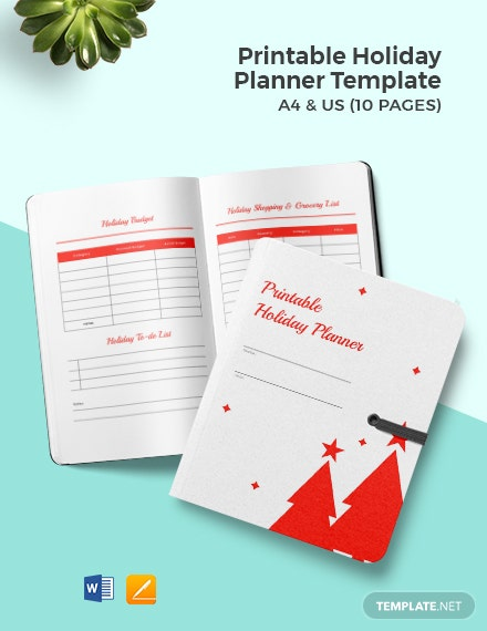 Free Printable Holiday Planner Template