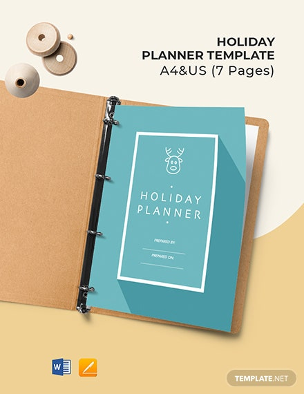 Free Blank Holiday Planner Template