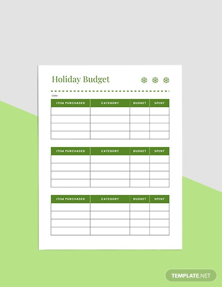 Basic Holiday Planner Example