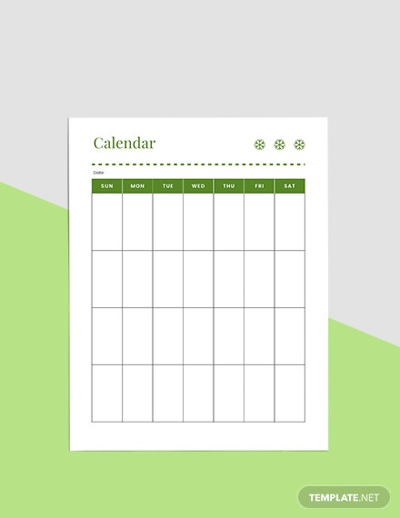 Basic Holiday Planner Format