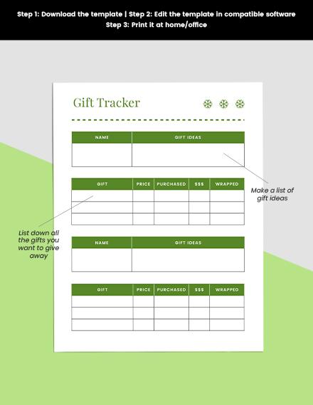Basic Holiday Planner Printable