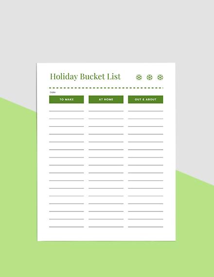 Basic Holiday Planner Sample