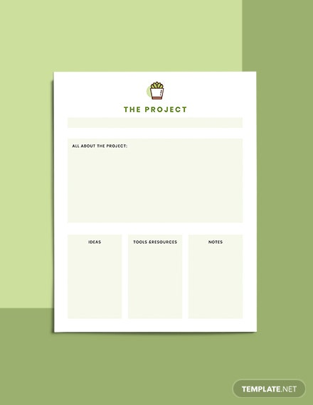 Project Life Planner Format
