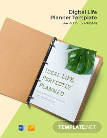 Digital Life Planner Template