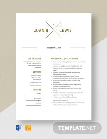 Budget Analyst Resume Template