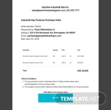 Free Product Order Form Template