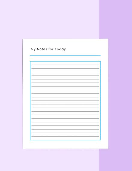 Mini Life Planner Format