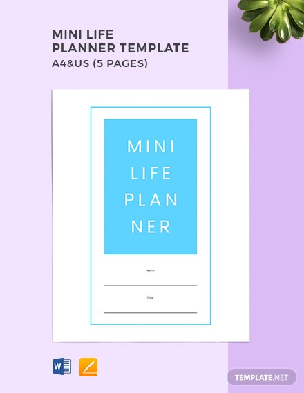 Mini Life Planner Template