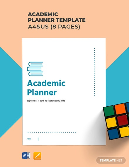 Academic Planner Template