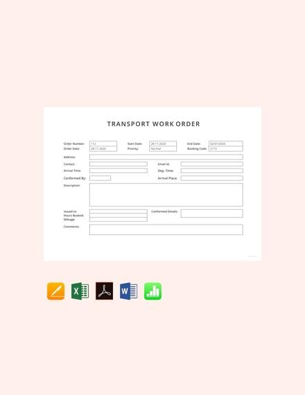 work order format in word download