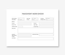 Transport Work Order Template