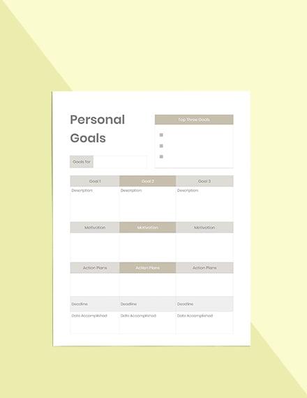 Personal Life Planner Editable