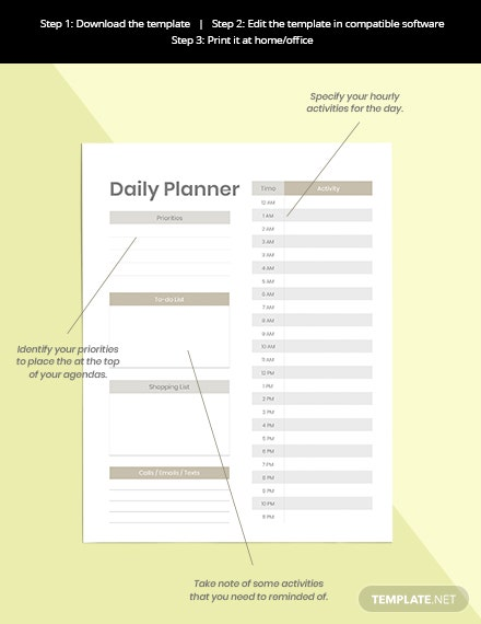 Personal Life Planner Format