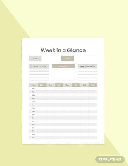 Personal Life Planner Sample