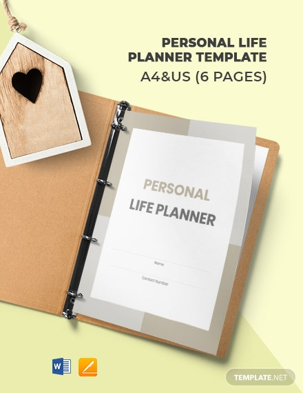 Personal Life Planner Template