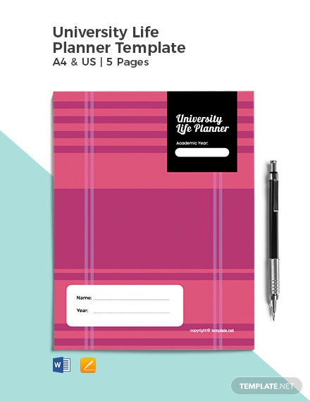 University Life Planner Template
