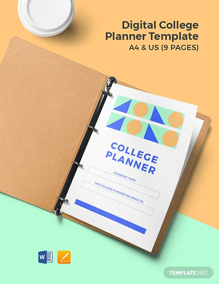 Digital College Planner Template