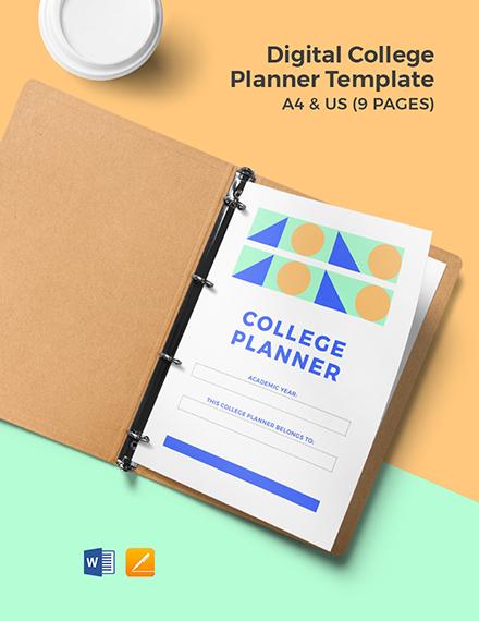 Digital College Planner Template