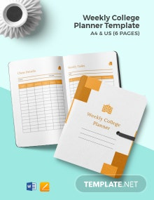 Weekly College Planner Template