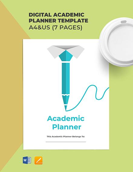Digital Academic Planner Template