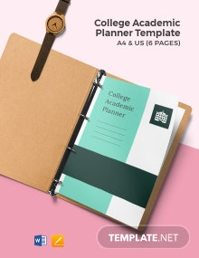 College Academic Planner Template