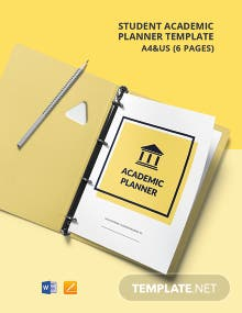 Student Academic Planner Template