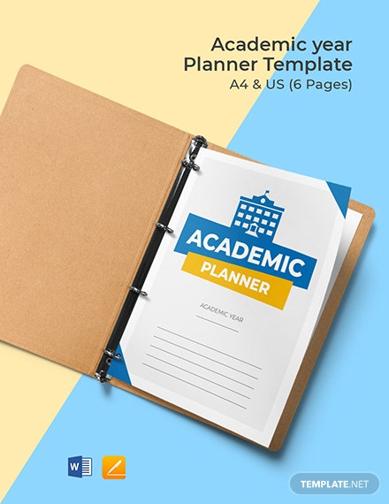 Academic Year Planner Template