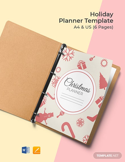 Holiday Planner Template