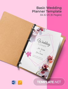 Free Basic Wedding Planner Template
