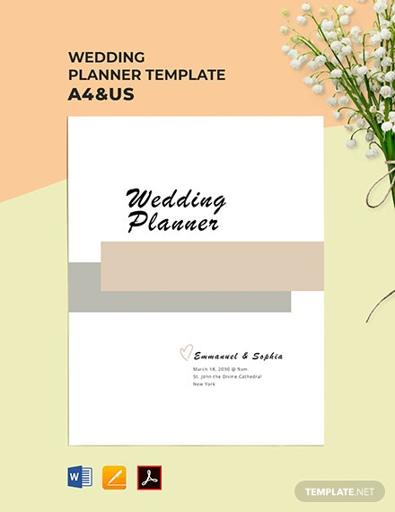 Free Simple Wedding Planner Template