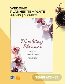 Free Blank Wedding Planner Template