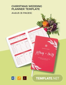 Christmas Wedding Planner Template