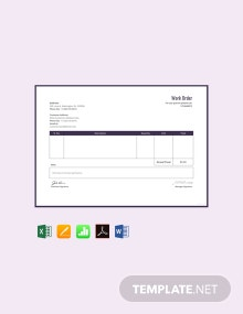 Free Work Order Format Template