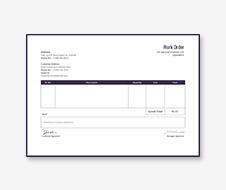 Work Order Format Template