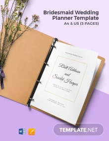 Bridesmaid Wedding Planner Template
