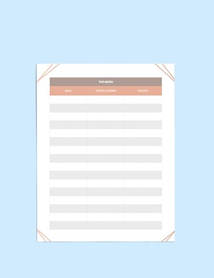Bridal Shower Wedding Planner Schedule