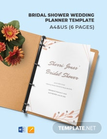 Bridal Shower Wedding Planner Template