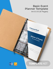 Free Basic Event Planner Template