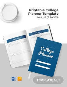 Free Printable College Planner Template