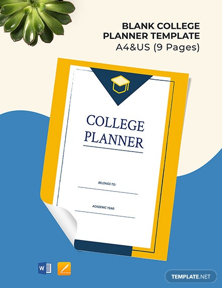 Free Blank College Planner Template