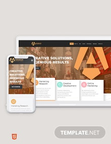 Advertising Agency Bootstrap Landing Page Template