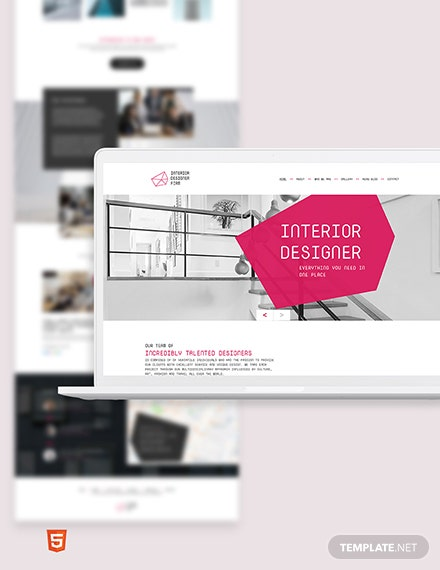 Interior Designer Bootstrap Landing Page Template