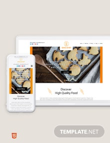 Bakery Bootstrap Landing Page Template