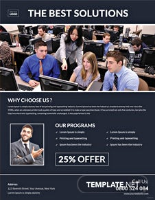 Computer Training Flyer Template