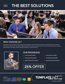 Free Computer Training Flyer Template
