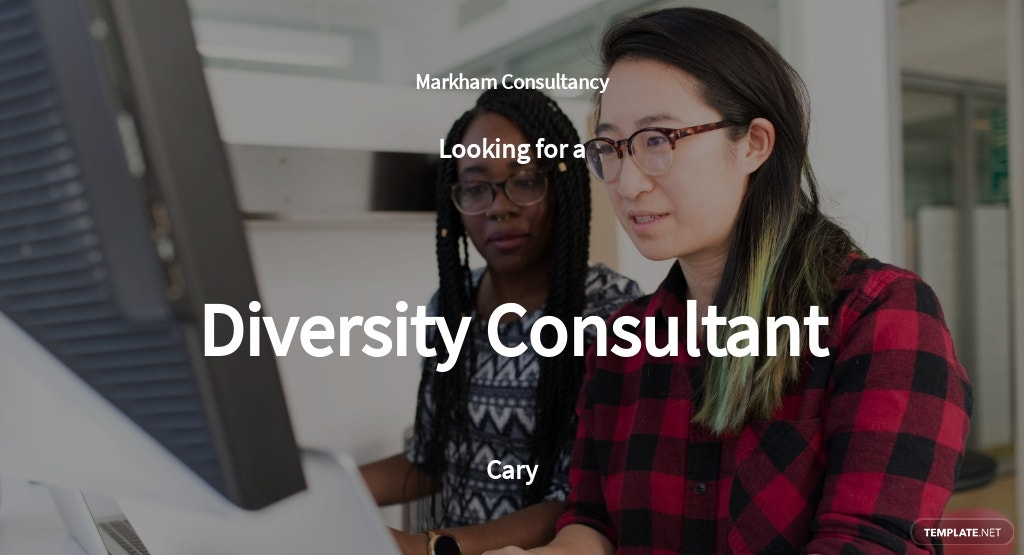 Diversity Consultant Job Ad and Description Template