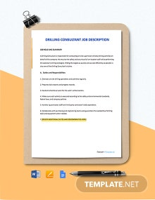 Free Drilling Consultant Job Ad and Description Template