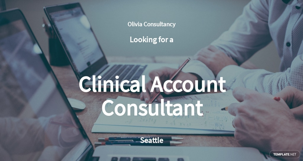 Clinical Account Consultant Job Ad and Description Template